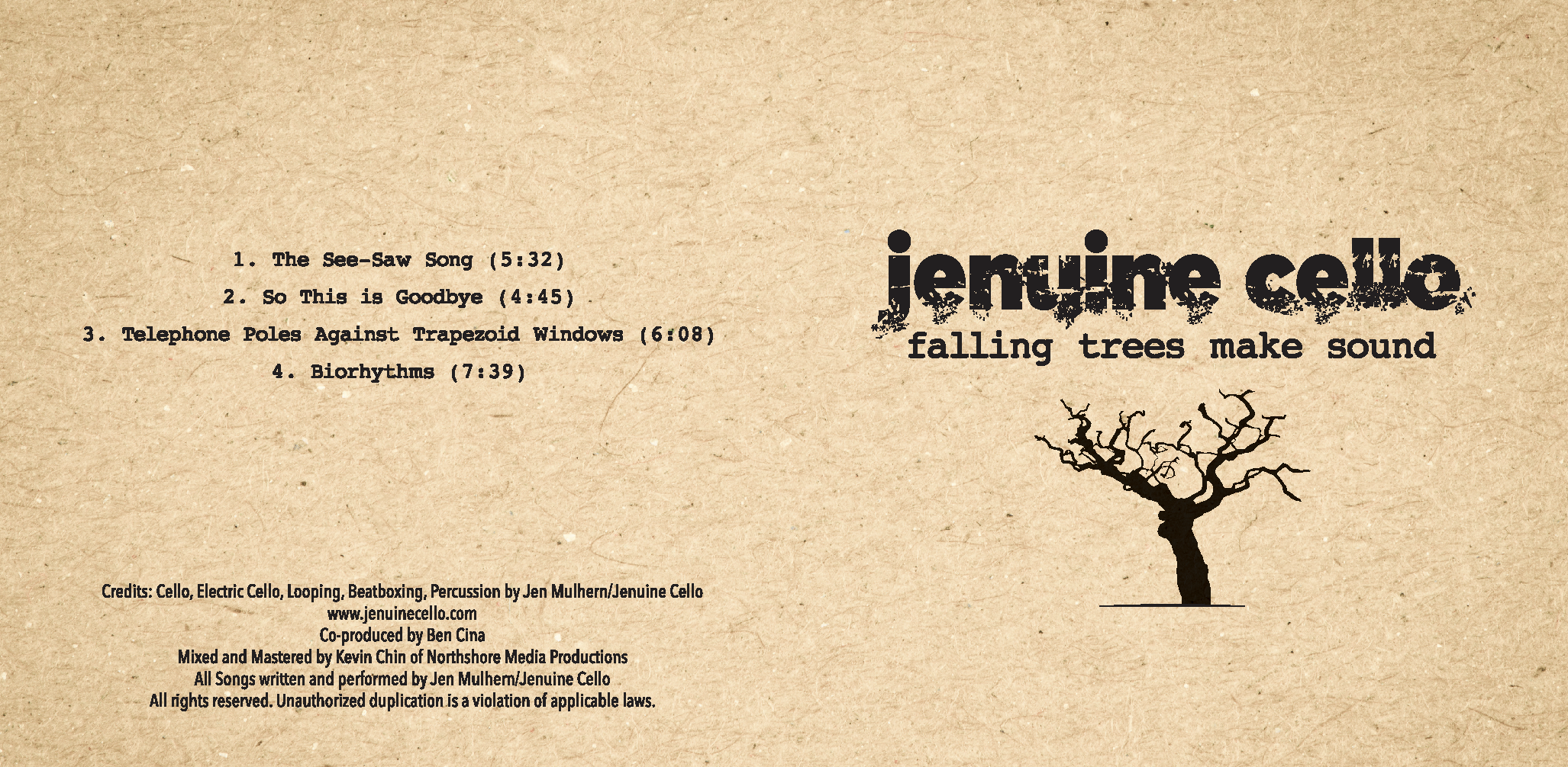 CD: Falling Trees Make Sound (shipped)